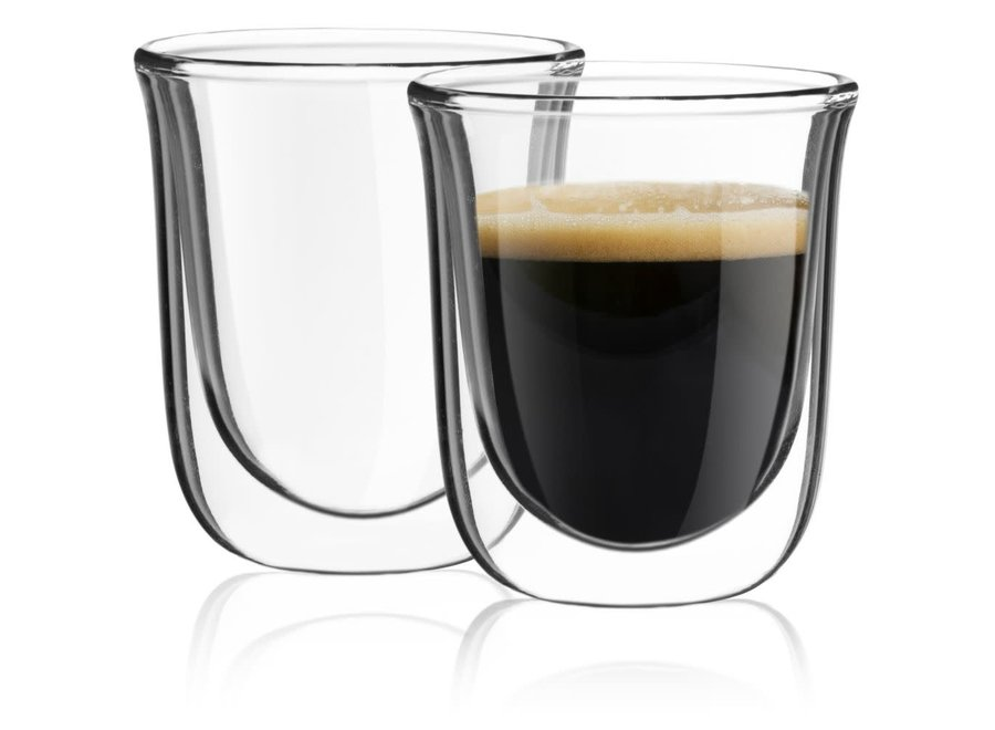 Jaavah Double Wall Espresso Glasses, 2 Oz Set of 2