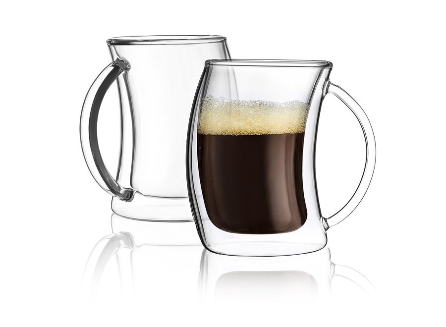 Caleo Double Wall Espresso Glasses, 2 Oz Set of 2