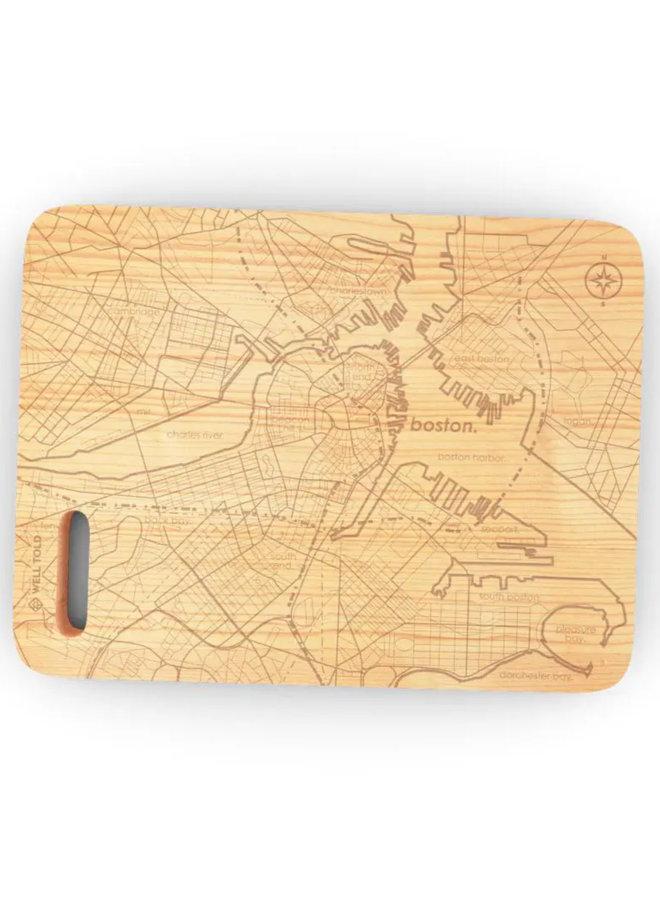 """Boston MA 6""""x 8"""" Maple Bar Prep & Cutting Board"""