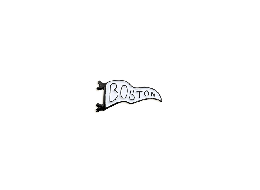 Boston Black & White Hard Enamel Pennant