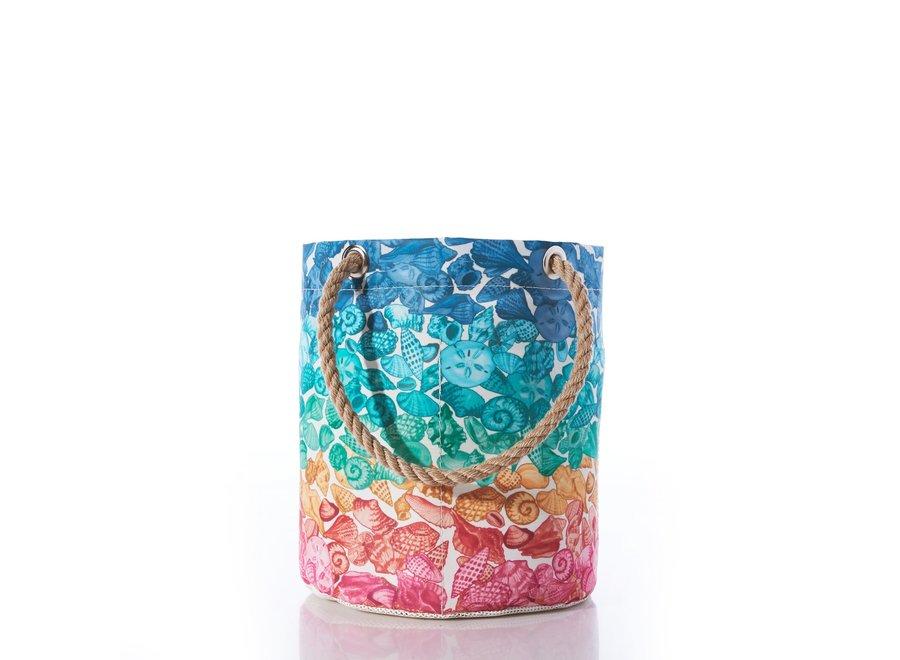 Multicolor Seashells Beachcomber Bucket Bag