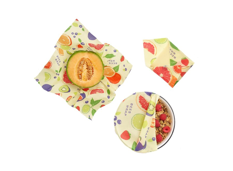 Assorted Sizes in Fresh Fruit Print - Pack of 3