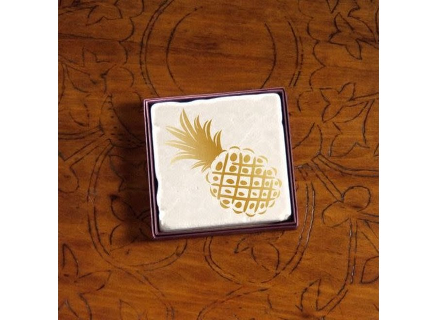 Blackstone's Exclusive Gold Pineapple Coaster
