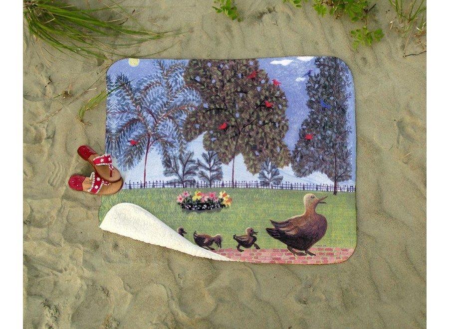 "Blackstone's Exclusive Blanket of Public Garden Ducklings ""Spring Eternal"""