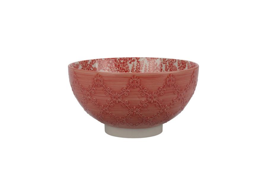 """Bowl """"Trellis"""" Coral 8"""" x 4.5"""" / 2 qt."""