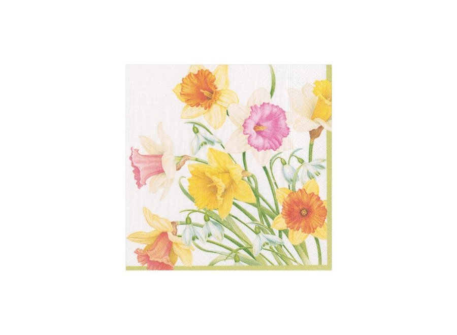 Daffodil Waltz Paper Cocktail Napkins - 20 Per Package