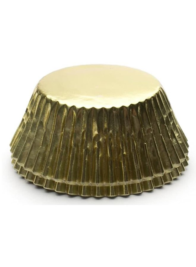 Gold Foil Disposable Bake Cups, 1.75 x 1.75 x 1.5 inches, 32 Count