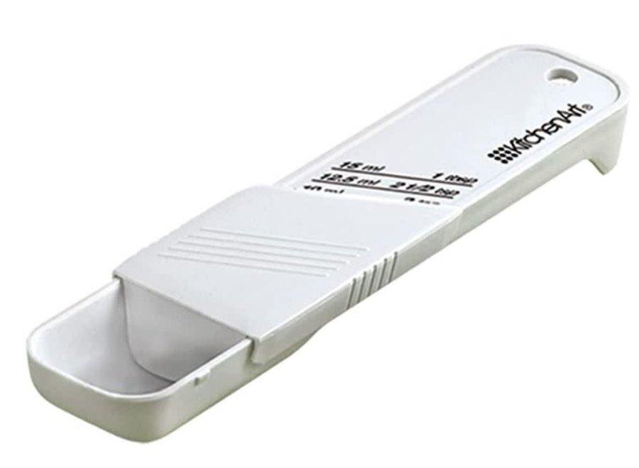 KitchenArt Adjust-A-Tablespoon, Plastic, White