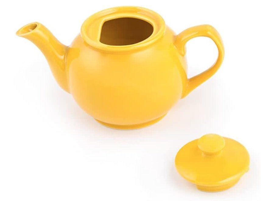 6-Cup Yellow Earthenware Teapot