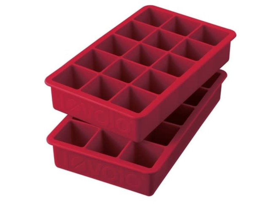 Perfect Cube Ice Trays – Cayenne Set of 2