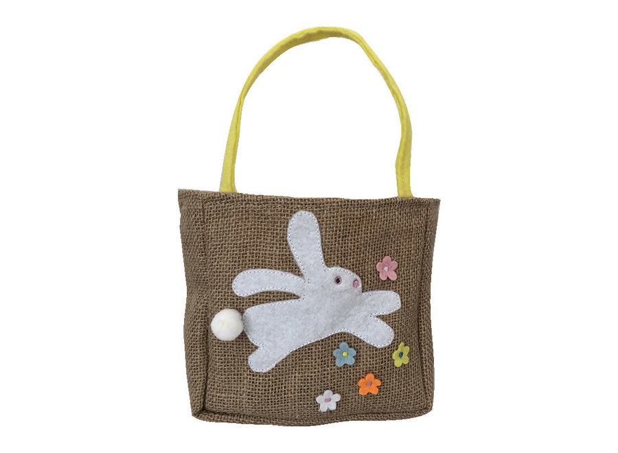 Burlap Bunny Gift Bag