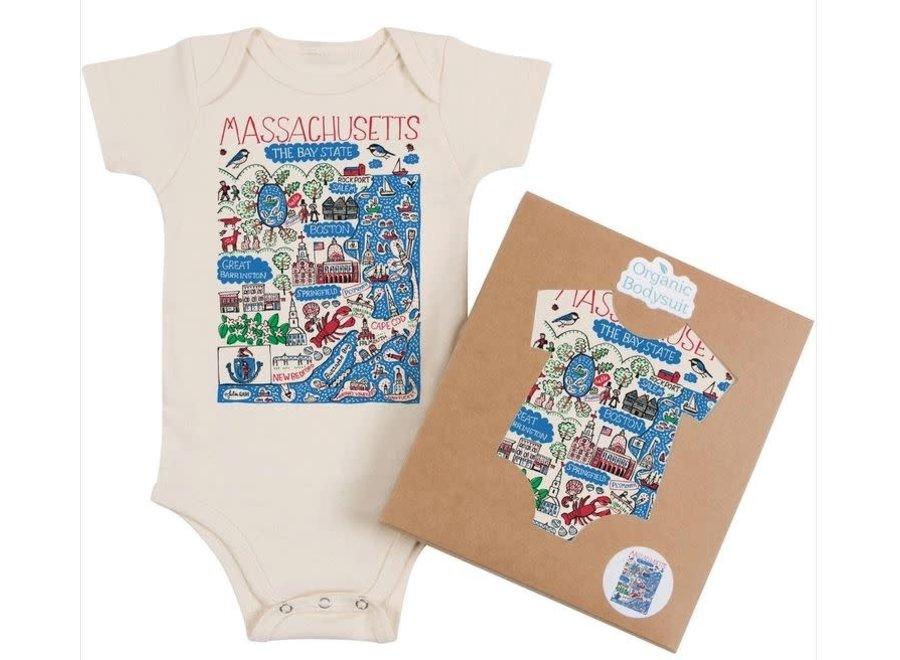 T-Shirt 2T Month Massachusetts Map Art