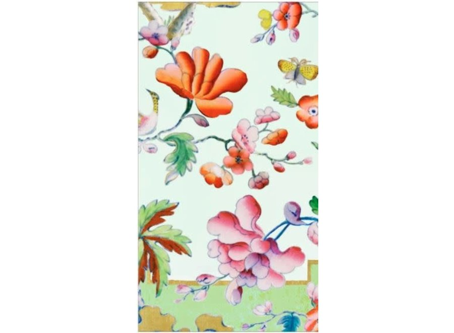 Summer Palace Paper Guest Towel Napkins in Celadon - 15 Per Package