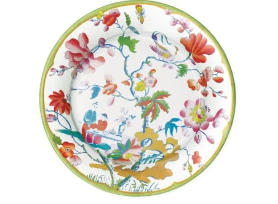 Summer Palace Paper Salad & Dessert Plates in Celadon - 8 Per Package