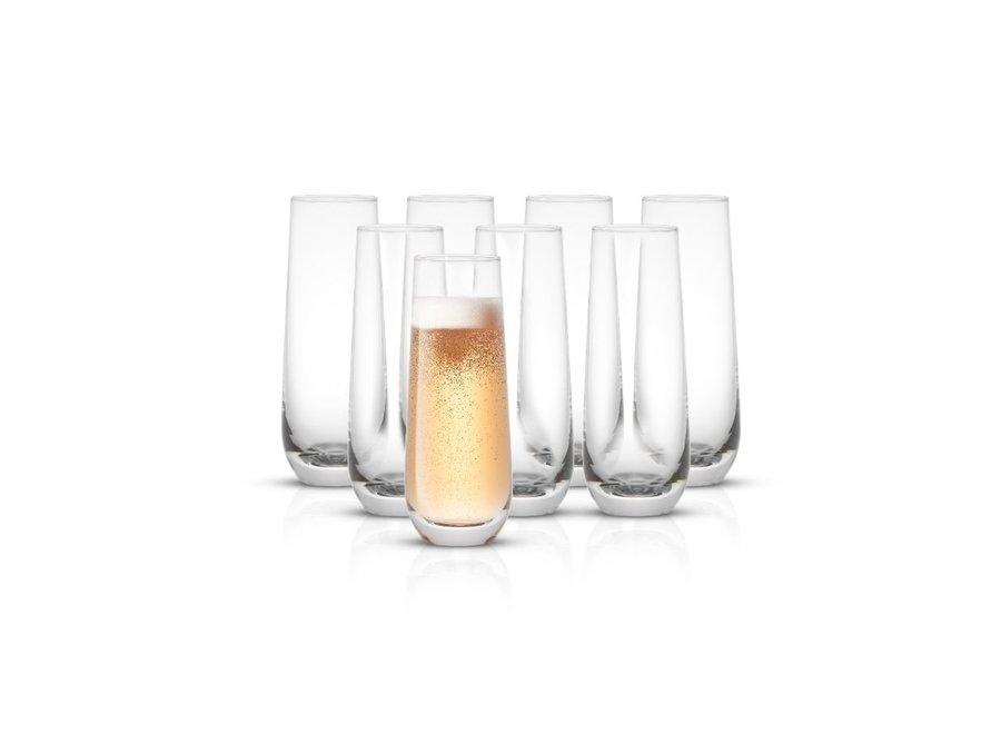 Milo Champagne Glasses 9.4 oz, Set of 8