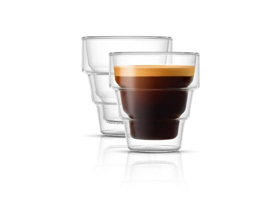 Pila Double Wall Espresso Glasses, 3 oz Set of 2