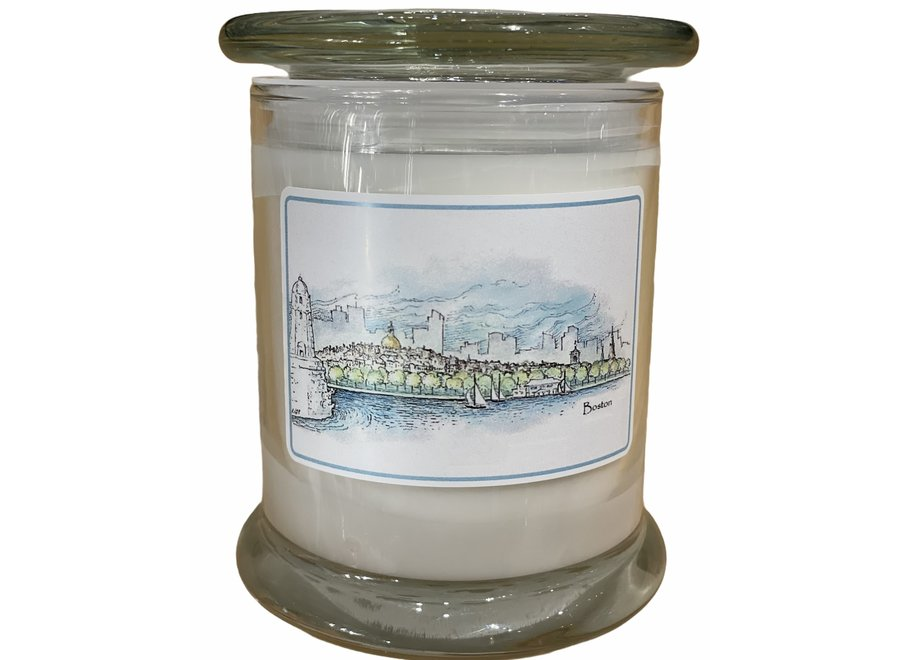 Boston Skyline Candle - Rainwater Scent - Blackstone's Exclusive