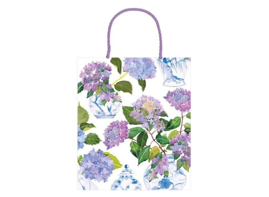 Hydrangeas and Porcelain Large Gift Bag - 1 Each