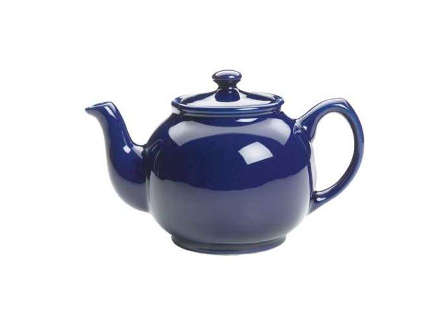 6-Cup Blue Earthenware Teapot