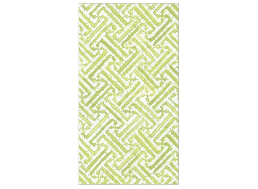 Fretwork Moss Green Guest Towel Napkins - 15 Per Package