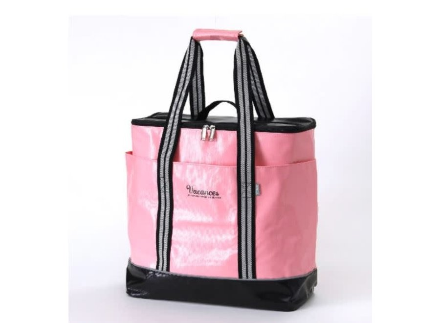 2 in 1 Cooler Tote Bag, Multipurpose bag - Pink