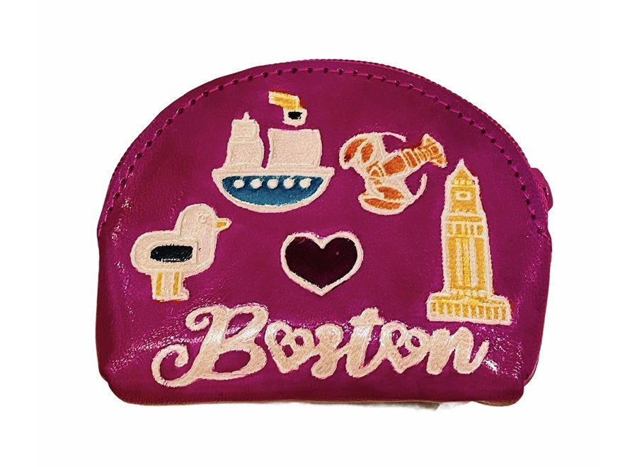 Leather Boston Coin Purse