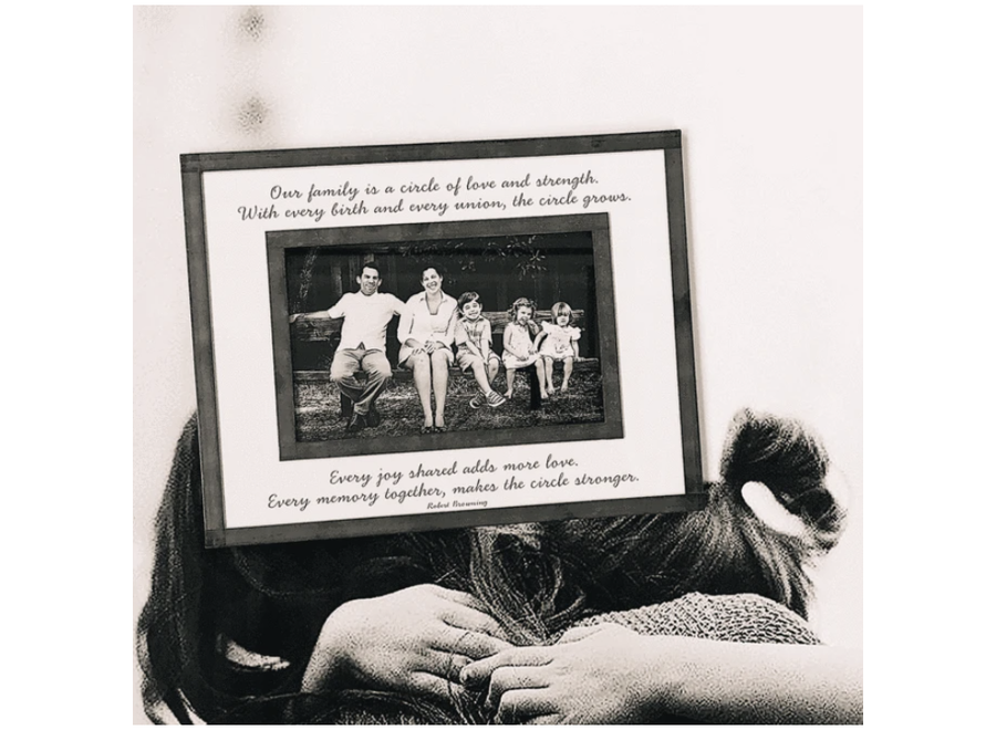 """Our Family Is A Circle 4""""x 6""""H Photo Frame"""
