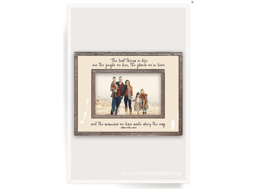 """The Best Things In Life 4""""x 6""""H Photo Frame"""