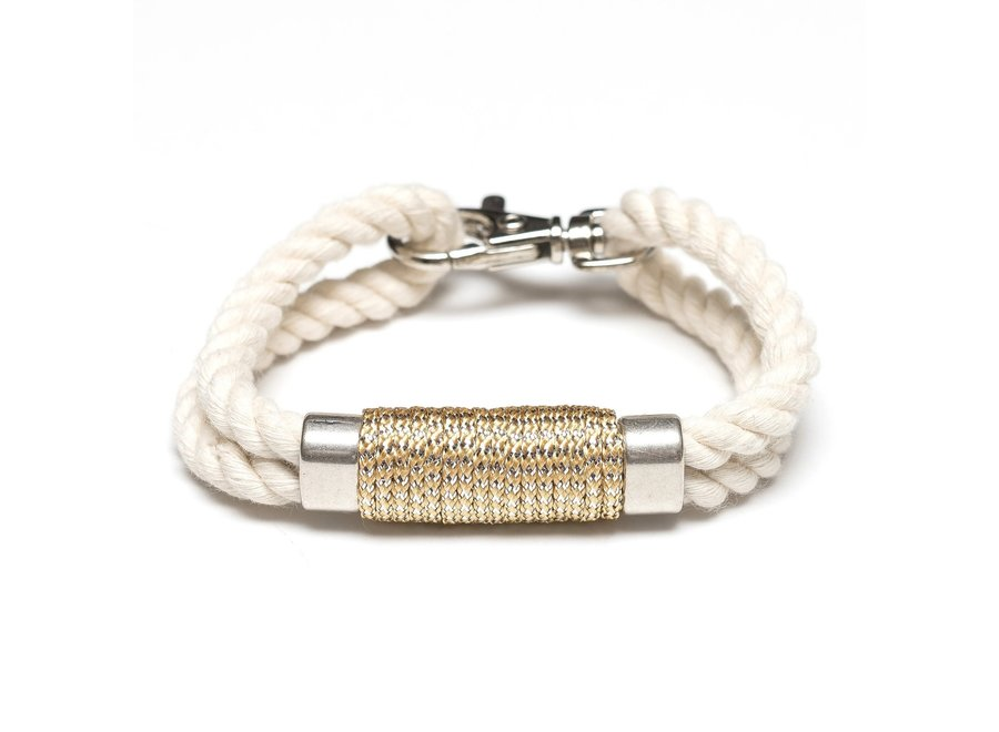 Tremont Bracelet - Ivory/Mettalic Silver
