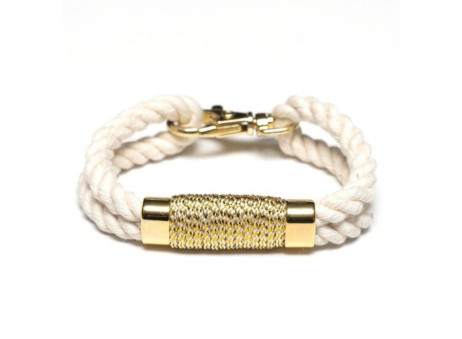 Tremont Bracelet - Ivory/Mettalic Gold