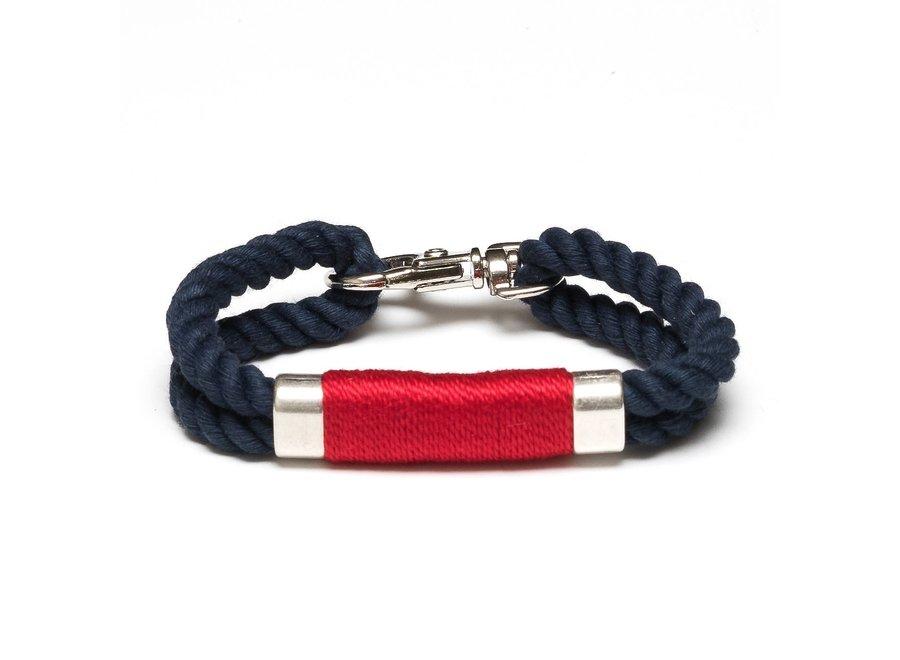 Tremont Bracelet - Navy/Red/Silver