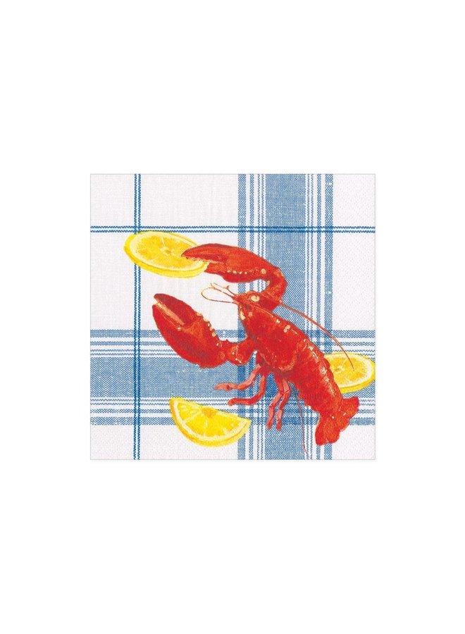Lobster Bake Paper Cocktail Napkins - 20 Per Package