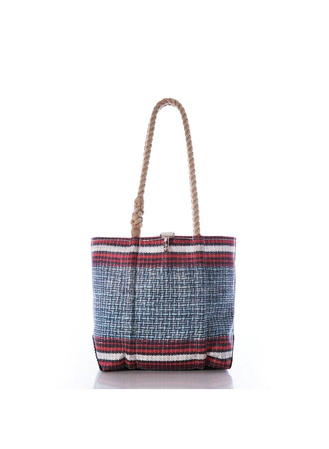 Basketweave Stripe Handbag