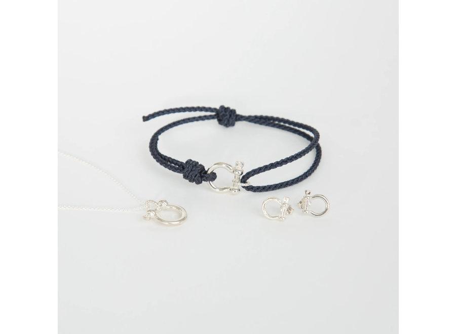 Mariner Shackle Bracelet - Silver Plate