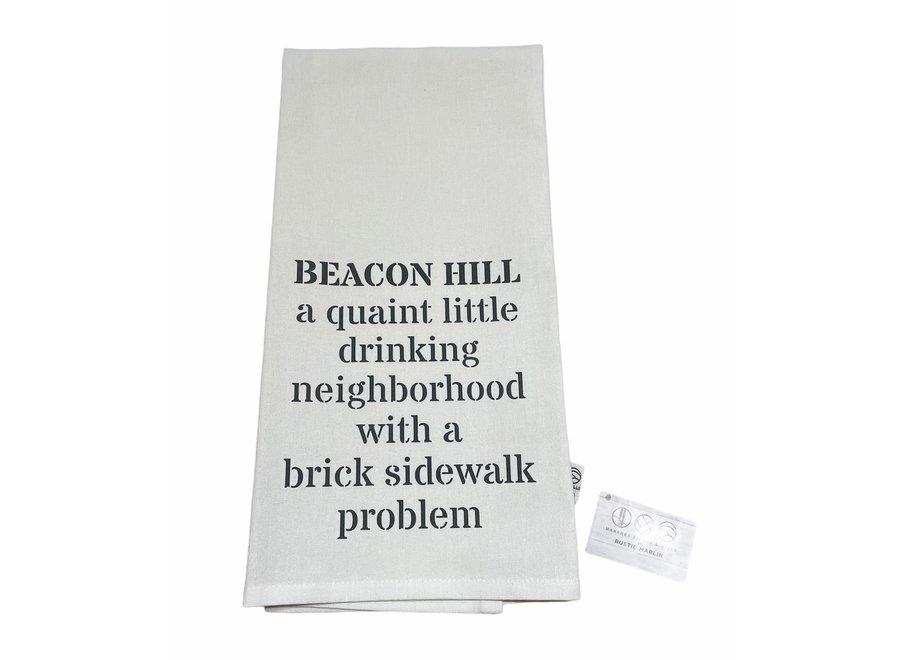 Tea Towel Beacon Hill Brick Sidewalk Problem in Stone
