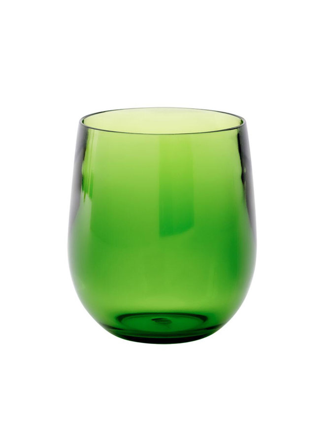 Acrylic 12oz Tumbler Glass in Emerald - 1 Each
