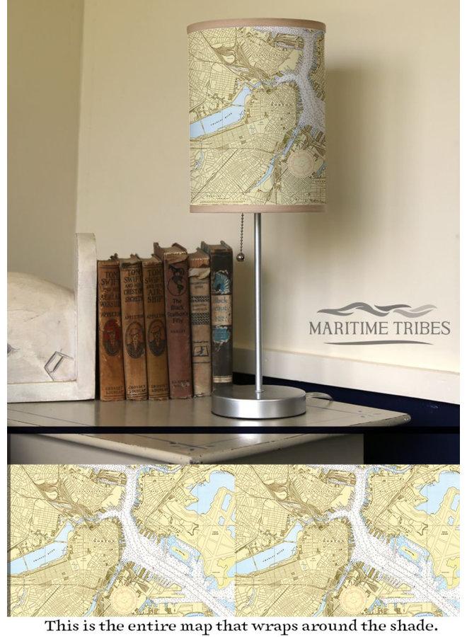 Boston Harbor Chart Lamp