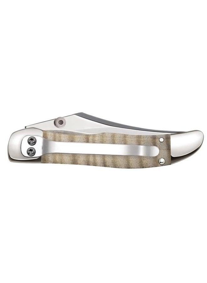 Curly Maple Wood KickStart Hunter Pocket Knife