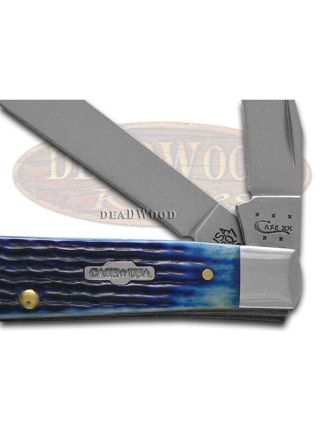 Navy Blue Bone Mini Trapper Pocket Knife