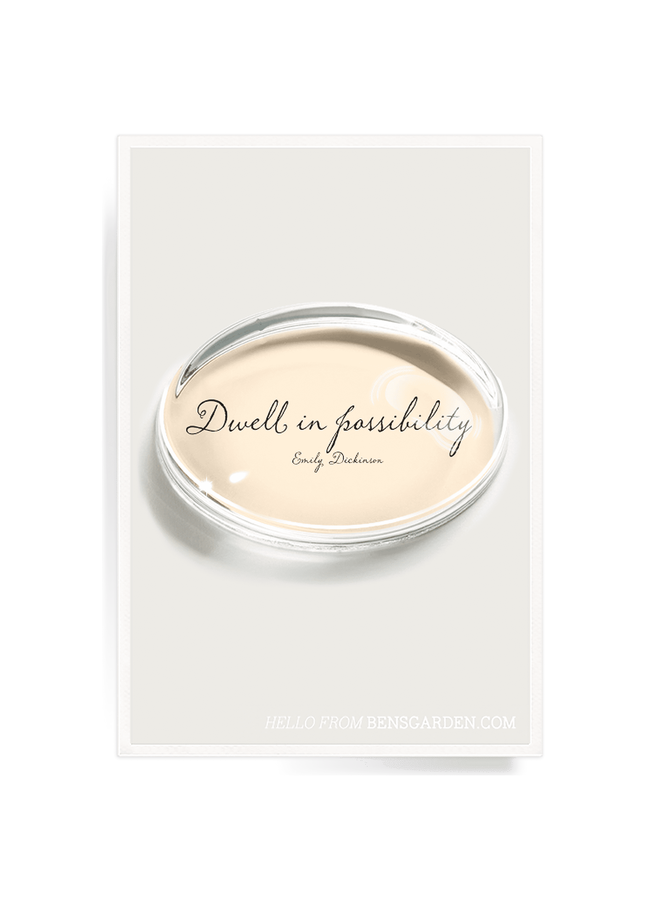 Dwell In Possibility Crystal Oval Paperweight