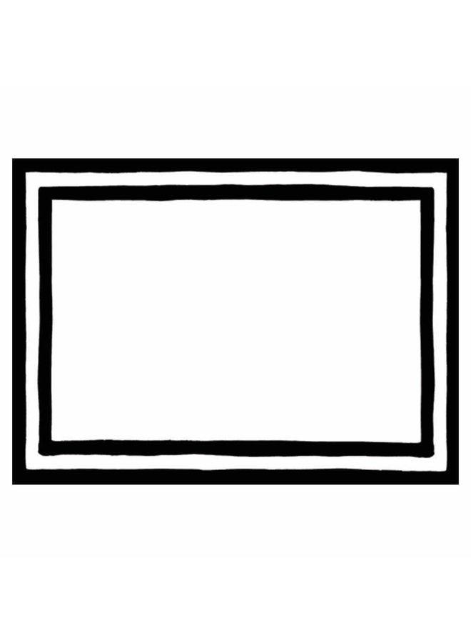 Border Stripe Self-Adhesive Labels in Black - 12 Per Package