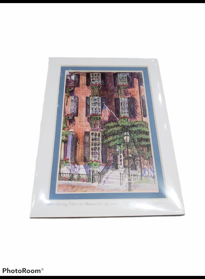 5x7 Print of Louisburg Square