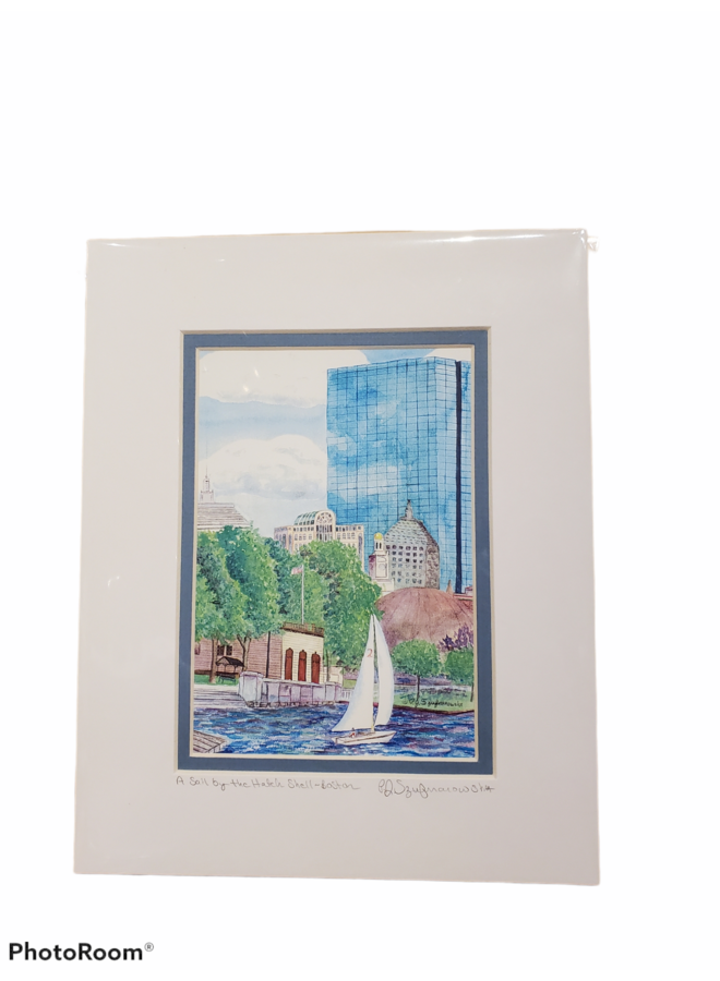 8x10 Print of A Sail by the Hatch Shell