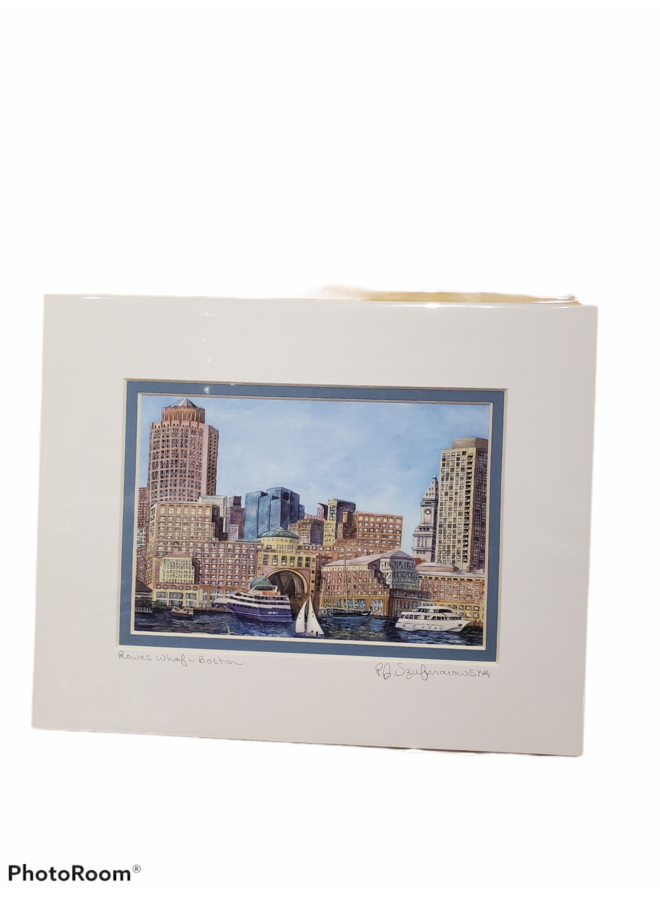 8x10 Print of Rowe Wharf