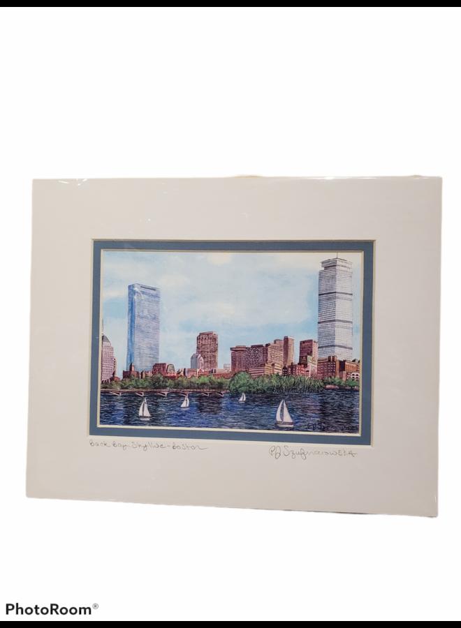 8x10 Print of Back Bay Skyline