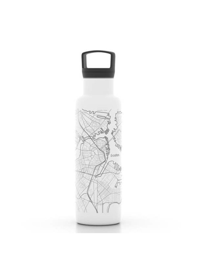 Boston MA Map 21 oz Insulated Hydration Bottle