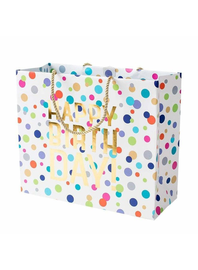 Happy Birthday Confetti Large Gift Bag - 1 Each