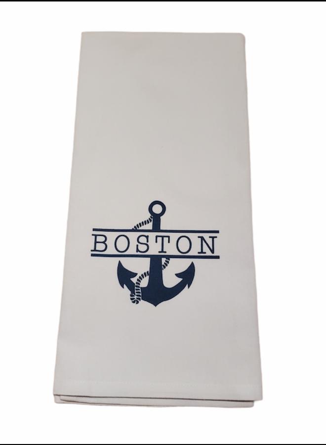 Boston Split Anchor Tea Towel