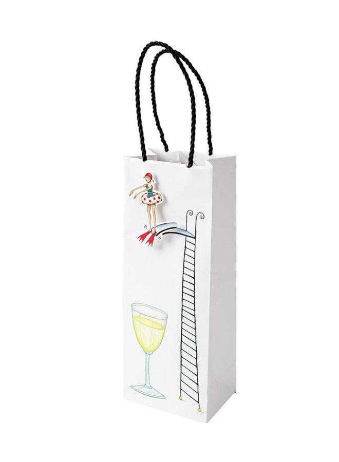 Dive In Wine & Bottle Gift Bag - 1 Each