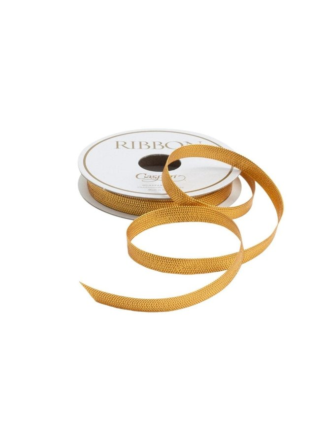 Gold Braided Tape Unwired Ribbon - 8 Yard Spool